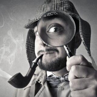 Detektiv s lupou
